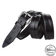 Кожаный ремень B35-01 (чёрный)