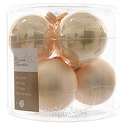 Набор стеклянных шаров, 80 мм, 6 шт, перламутр mix (Kaemingk) фото