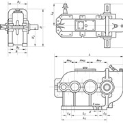 Редукторы вертикальные крановые трехступенчатые, тип ВК (вк-350 вк-475 вк-550) фото