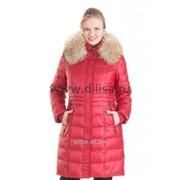 Пальто с мехом Mishele 9917 красный фото