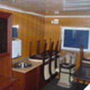 Вагон-дом столовая фото