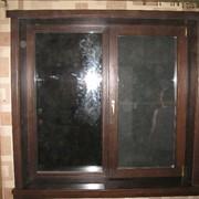 Евроокно деревянное под ключ 1300*1400 фото