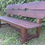 Скамейки деревянные фото