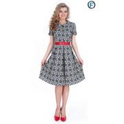 Платье с поясом 578-1 фото