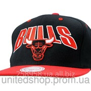 Кепка Mitchell and Ness - Chicago Bulls - Big Patch Classic Black/Red фото