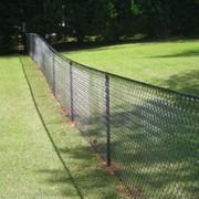 """Забор из оцинкованной сетки """"Рабица"""" высотой 1,5м фото"""