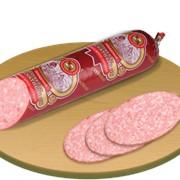 Колбаса копчёно-варёная Сервелат Мускатный фото