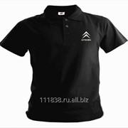 Рубашка поло Citroen черная вышивка белая фото