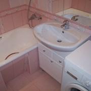 Отделка ванных комнат и санузлов.  фото