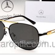 Мужские солнцезащитные очки Mercedes Benz 612 цвет черный с золотом фото