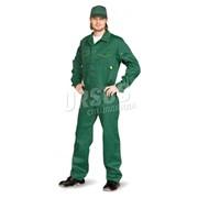 """Костюм мужской """"Дока"""" с брюками темно-зеленый с лимонным фото"""