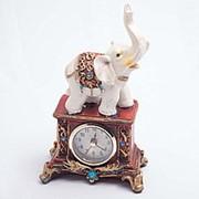 Статуэтка с часами Слон 21*10 см фото