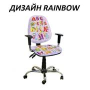 Кресло детское Бридж хром дизайн Rainbow фото