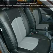 Чехлы Nissan Almera IV 12 спл. чер-сер эко-кожа Оригинал, спл аригон + т.серый жаккард БРК, спл. т.серый жаккард БРК, спл. флок тем. серый БРК фото