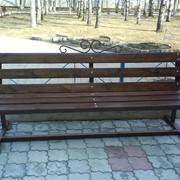 Скамья парковая со спинкой фото