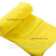 Простынь махровая, без бордюра (Лимон) фото
