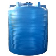 Резервуар для хранения воды и дизеля 10000 литров, синий, верт фото