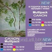 Картридж Ink CaNon Multipack PGI-520BK,CLI-521Y with chip for CaNon PIXMA iP3600 фото