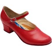 Женские народные туфли на низком и высоком каблуке фото