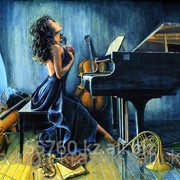 Картина по номерам Пианистка фото