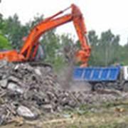 Погрузка и вывоз строительного, бытового мусора фото