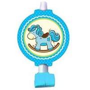 Язычки-гудки с карточкой Лошадка Малыш голубая фото