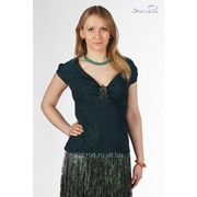 Блуза 1519 Зеленый цвет фото