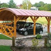 Навесы для автомобиля деревянные от Prosperitas фото