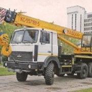 Услуги автокраном г.п. 32 тонны на полноприводном шасси в г. Гродно фото