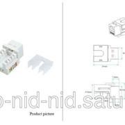 Розеточный модуль 6 UTP 1xRJ45 Keystone jack 90о JKB06-UC6 фото
