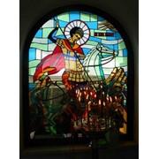 Изготовление витражей из цветного стекла с распайкой в стиле Тиффани фото