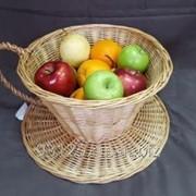 Корзина-чашка плетеная фото
