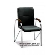 Аренда (прокат) конференционных стульев-кресел SAMBA («САМБА») черного цвета с подлокотниками по 75 грн/сутки фото