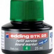 Чернила для борд-маркеров Edding BTK25/004, 25мл, зеленые фото