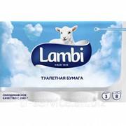 Lambi Туалетная бумага - 8 рул/ уп, 150л/рул, 3 слоя фото
