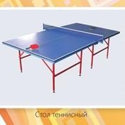 Стол теннисный с ракеткой и сеткой фото