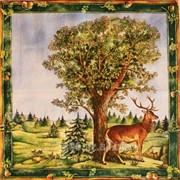 Салфетка для декупажа Пейзаж с оленем фото