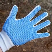 Перчатки нейлон с ПВХ (12/1080) фото