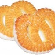 Печенье сахарное Крендель с глазированным дном фото