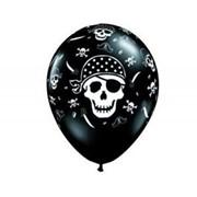 Шелкография11 Пиратский череп Onyx Blak Q фото