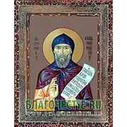 Благовещенская икона Зосима Владимирский, святой, копия старой иконы, печать на дереве Высота иконы 11 см фото