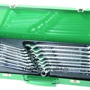 Набор комбинированных (накидной профиль 75-гр) ключей 7-24 мм. 16 предметов., код товара: 49178, артикул: W69116S фото