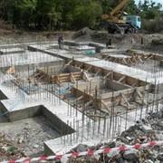 Строительство фундамента. фото