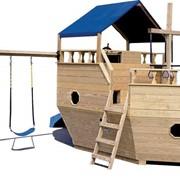 Детская игровая площадка пиратский корабль фото