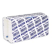 Полотенца бумажные Aster Pro, листовые,2-слойные, С-сложение, 153л, белые 131281 фото