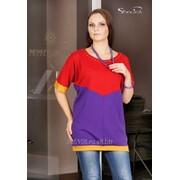 Блуза 1652-1 Вишня цвет фото