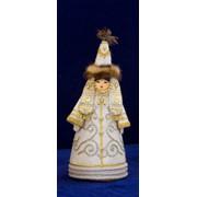 Сувениры из ткани, БИБИГУЛЬ малая, Сувенир девушка невеста. фото