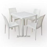 Стол и стулья пластиковые Бали фото