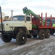 Урал 43204 лесовоз с манипулятором фото