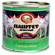 Паштет Деликатесный с зеленью укропа ТУ 9216-903-00419779-2006 фото